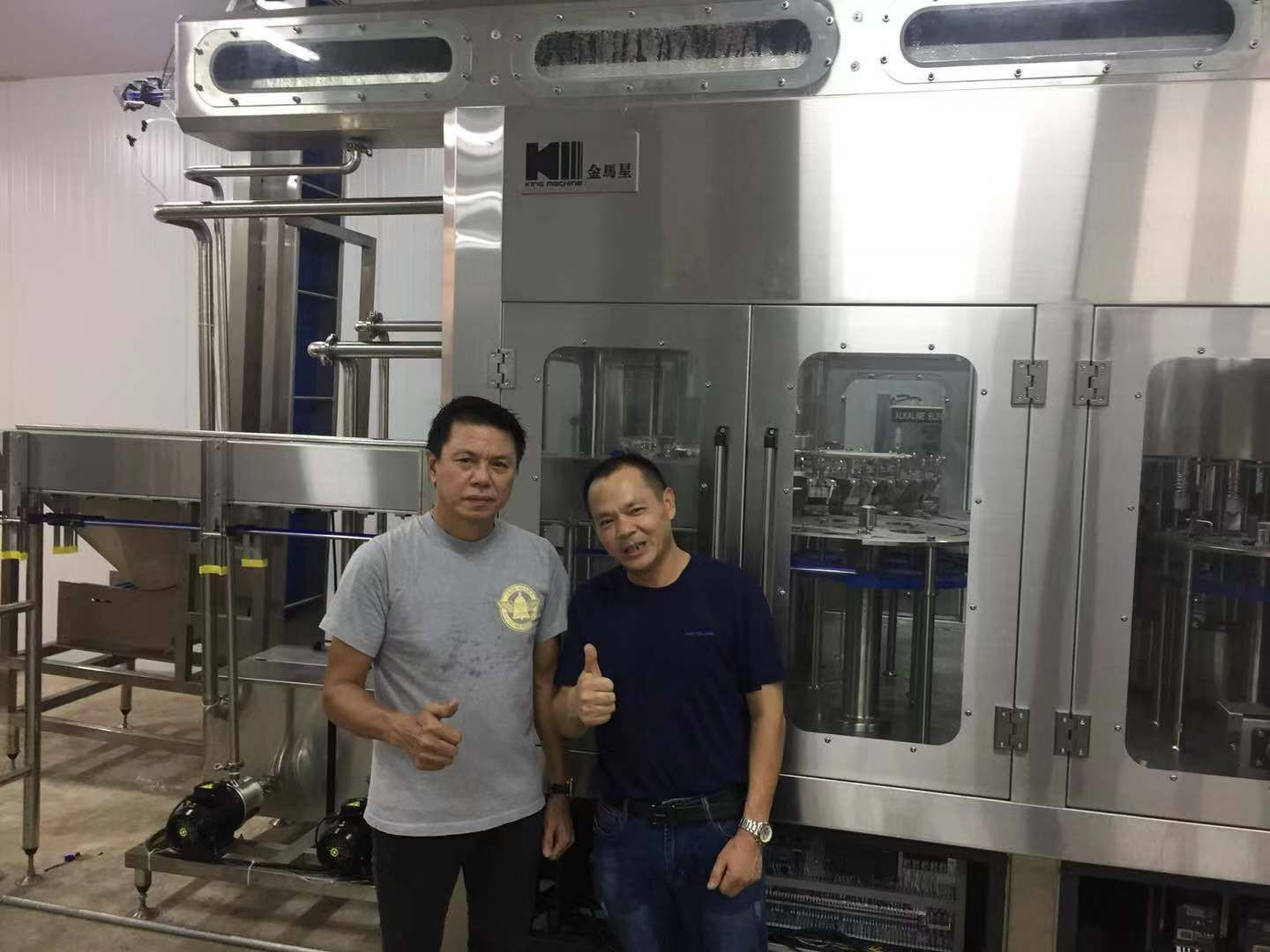Thailand 8,000B/H pure mineral drinking water filling production line